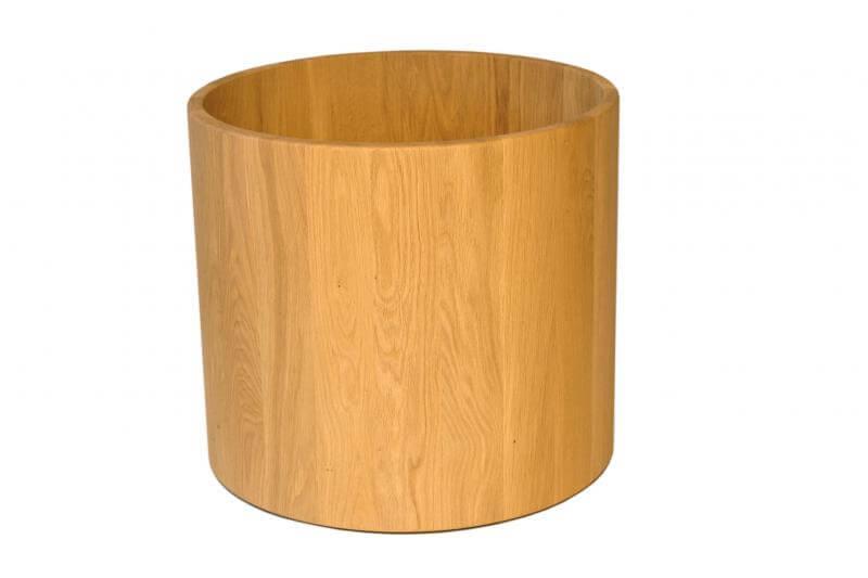 massivholz blumentopf aus eiche auf rollen holzboutique. Black Bedroom Furniture Sets. Home Design Ideas